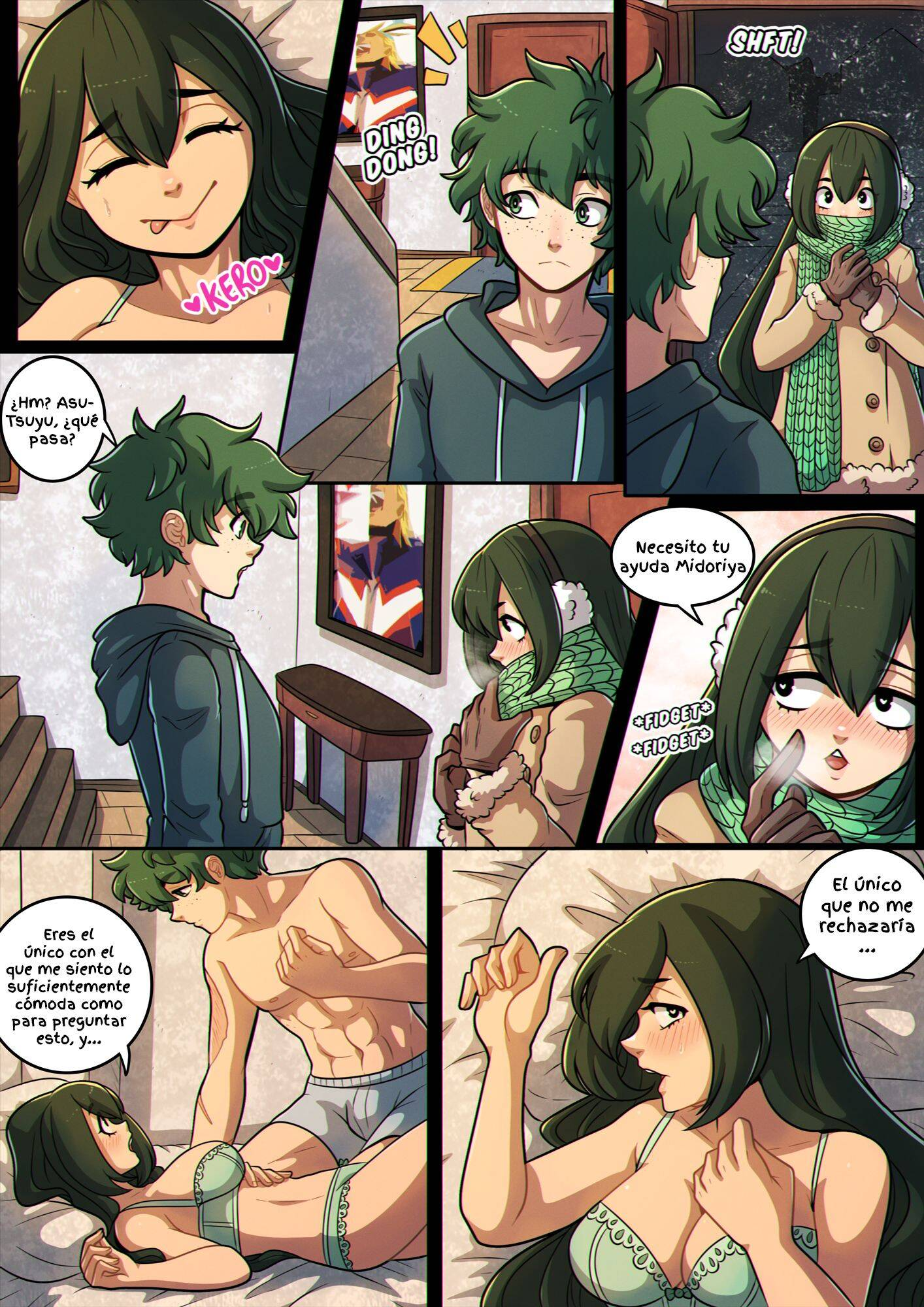 A Night With Tsuyu (Spanish) - page02 My Hero Academia,  xxx porn rule34