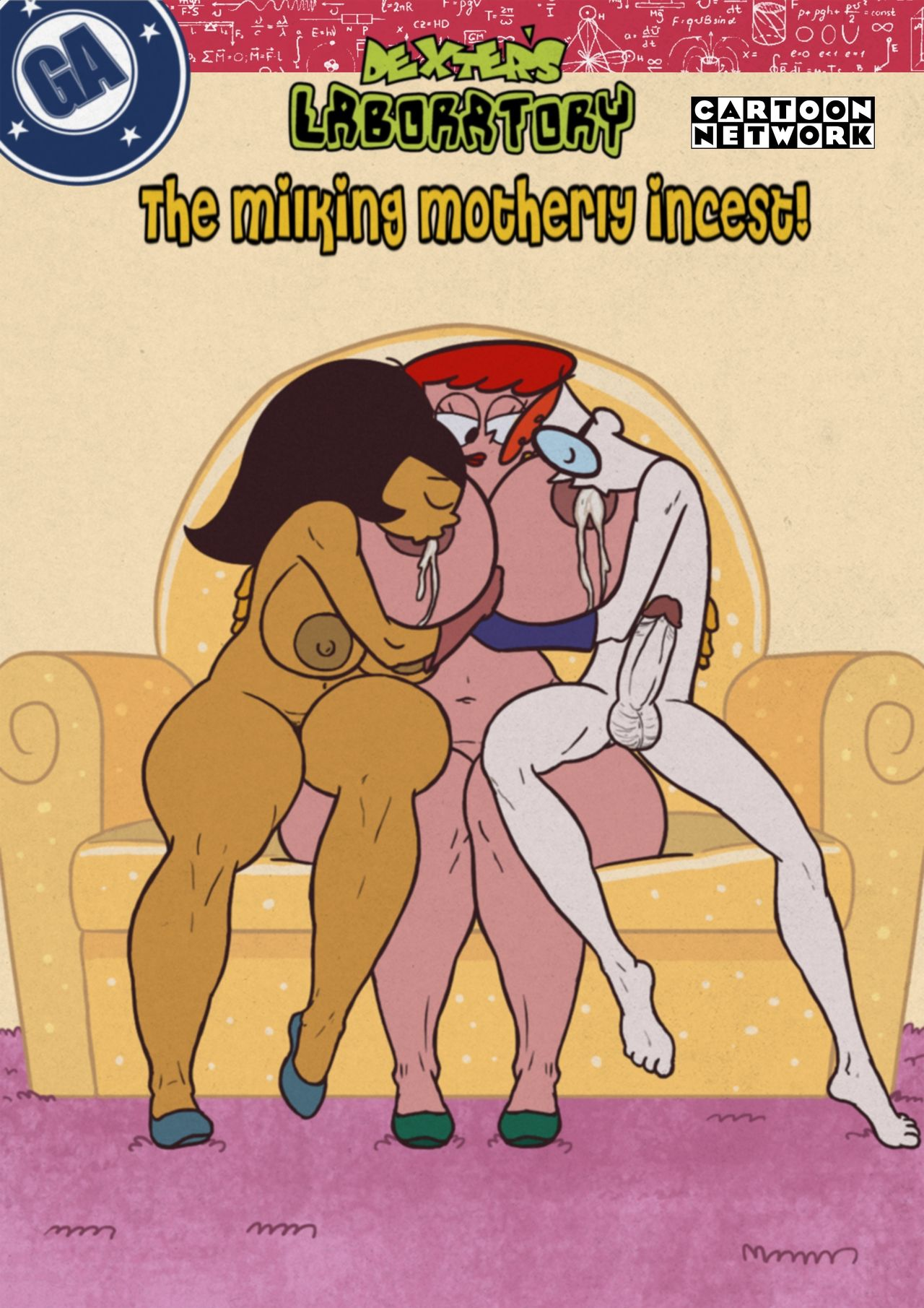 The Milking Motherly Incest! (Spanish) - page00 Cover Crossover,Dexters Laboratory,Super Mario Bros,  xxx porn rule34