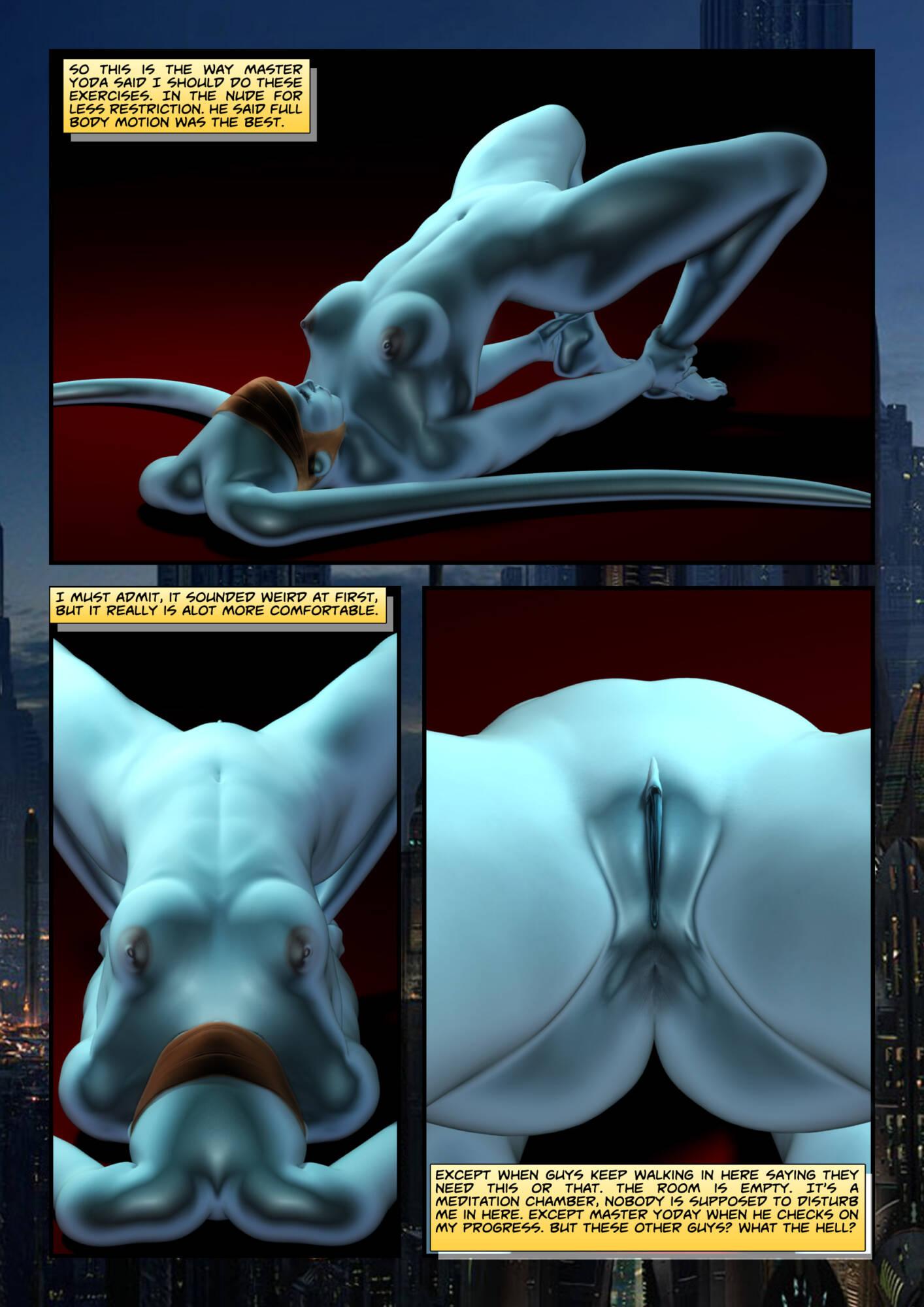 Penny Lustfuls 1 - Yoda Yoga (English) - page01 Star Wars,  xxx porn rule34