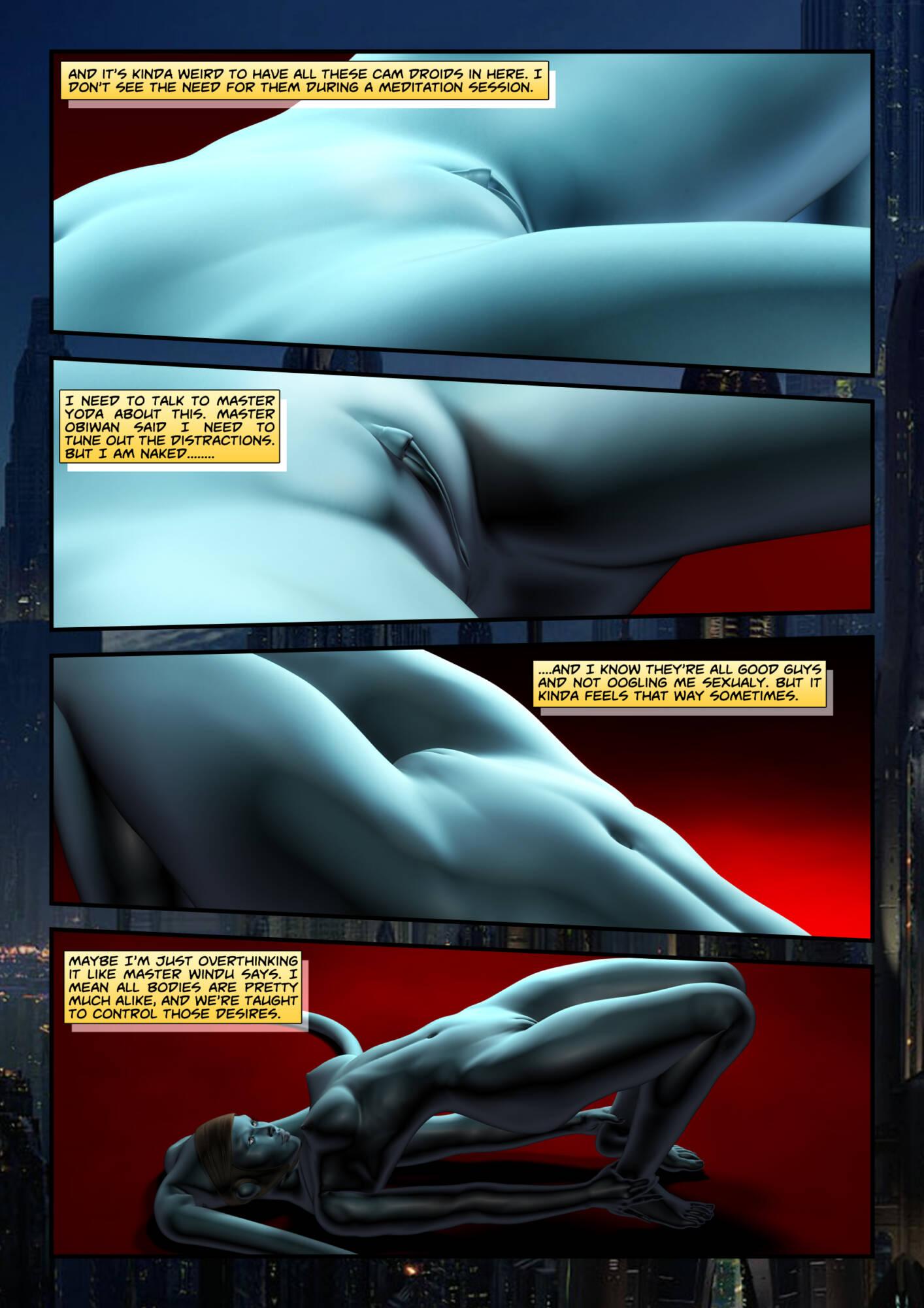 Penny Lustfuls 1 - Yoda Yoga (English) - page02 Star Wars,  xxx porn rule34
