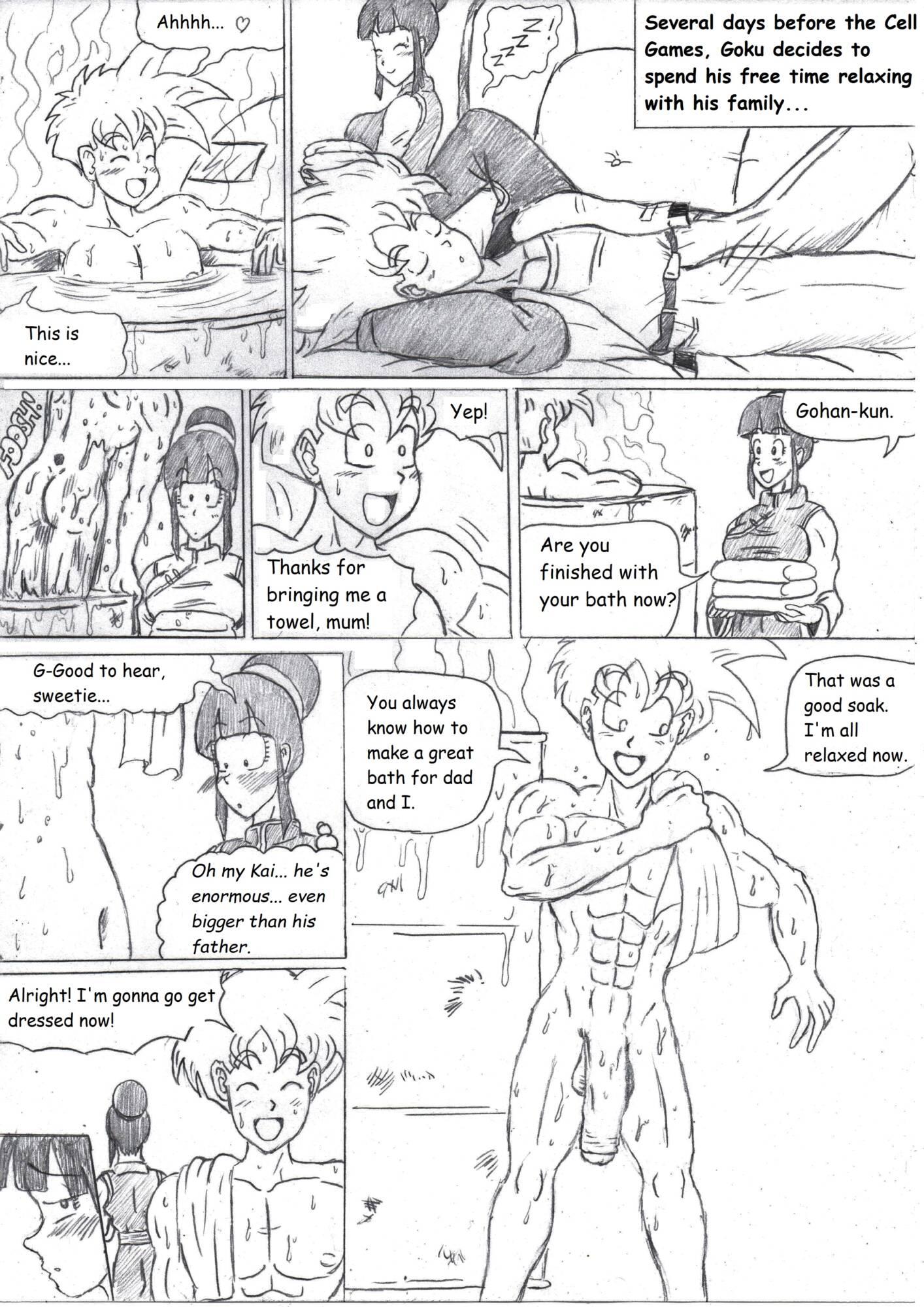 Hot Bath (English Mono) - page01 Dragon Ball,  xxx porn rule34