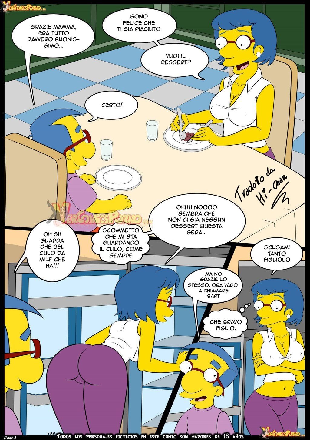 Old Habits 6 (Italian) - page01 Simpsons,  xxx porn rule34