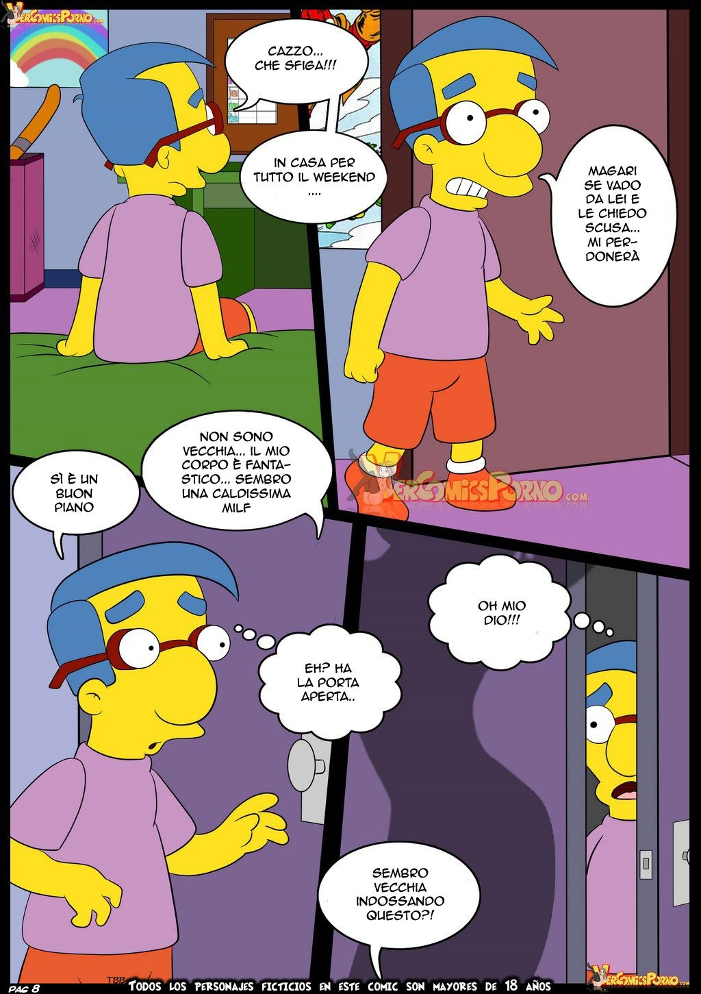 Old Habits 6 (Italian) - page08 Simpsons,  xxx porn rule34