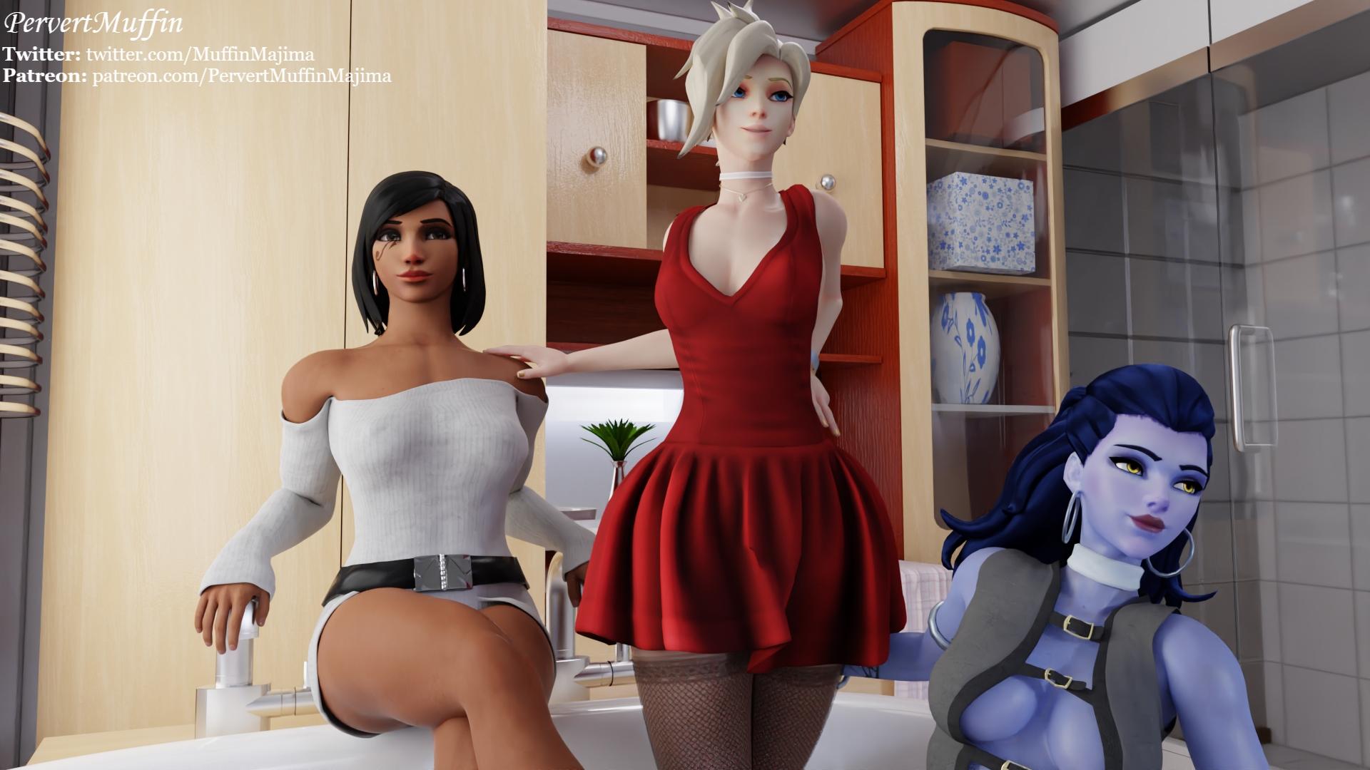 OW Girls On The Bathtub (Dress) - page04 Overwatch,  xxx porn rule34
