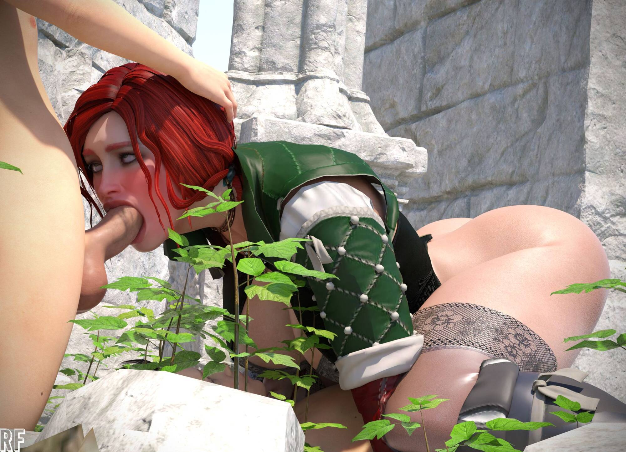 Triss in Trouble - page04 Witcher,  xxx porn rule34