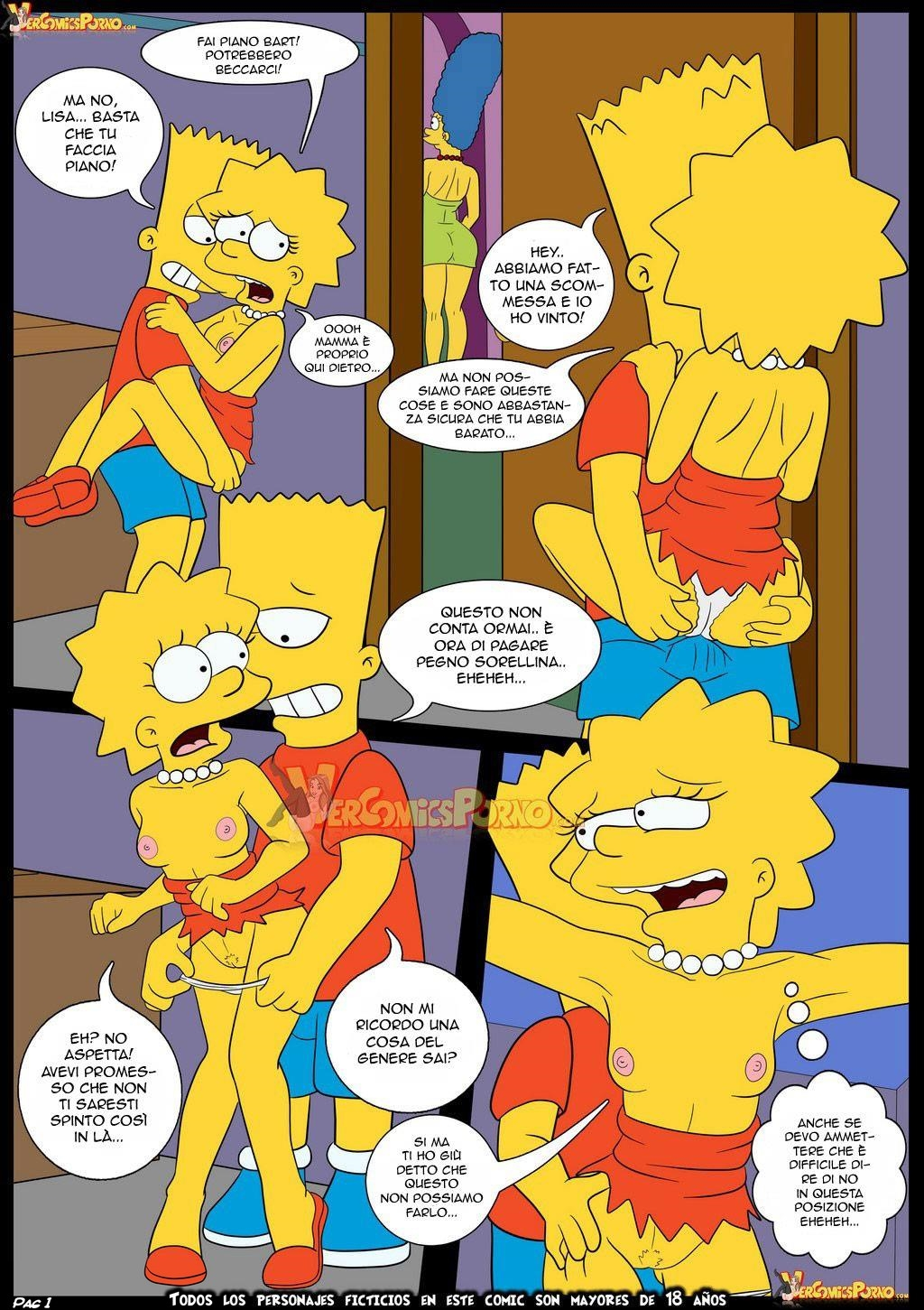Simpso-Rama 1 (Italian) - page01 Crossover,Futurama,Simpsons,  xxx porn rule34