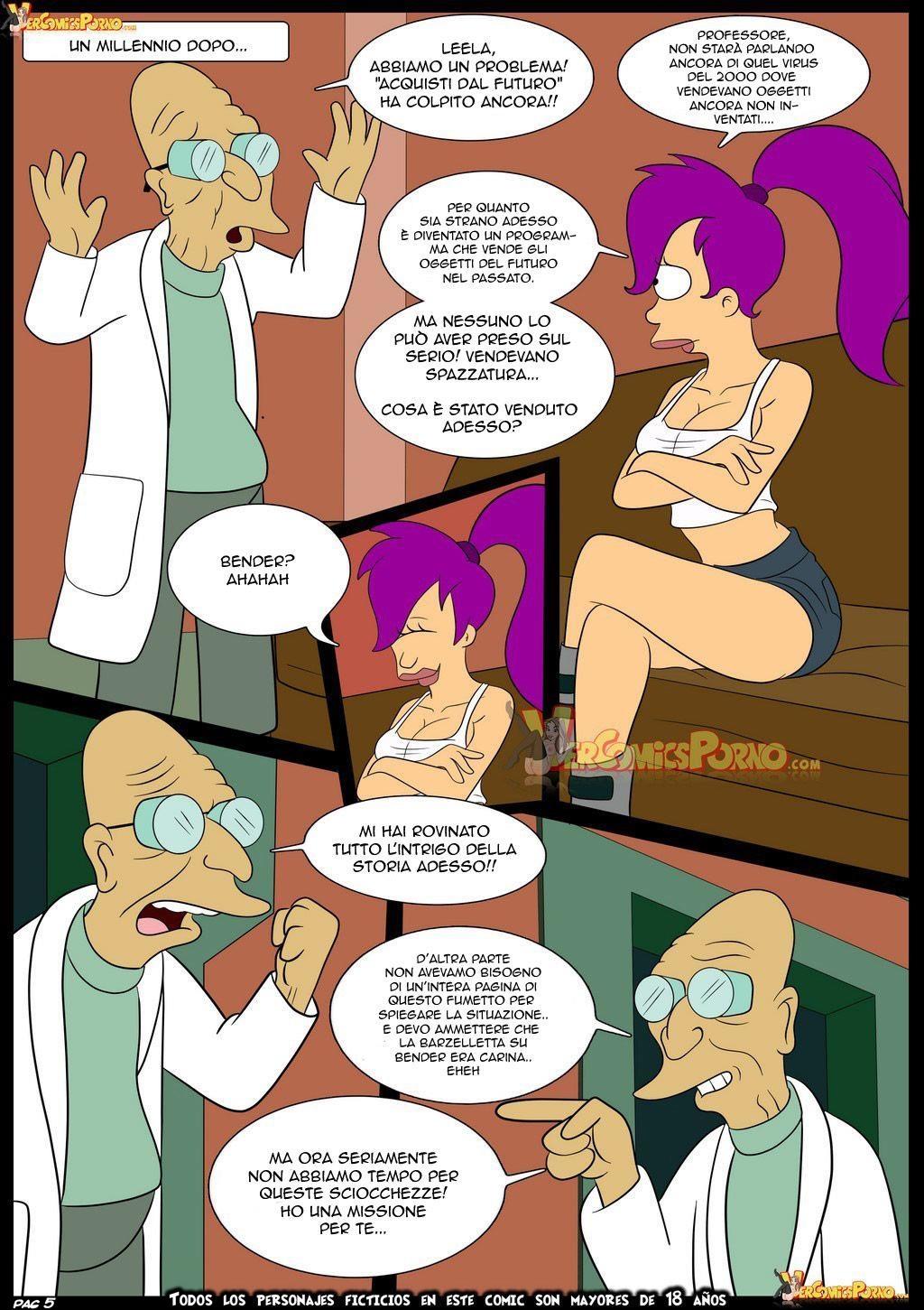 Simpso-Rama 1 (Italian) - page05 Crossover,Futurama,Simpsons,  xxx porn rule34