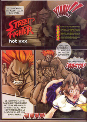 Street Fighter Hot XXX (Spanish) - page01 BurnButt