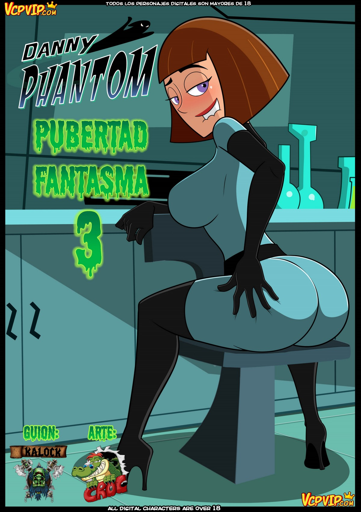 Ghost Puberty 3 (Spanish) - page00 Cover Danny Phantom,  xxx porn rule34
